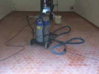 Nettoyage en cours (fin de chantier)