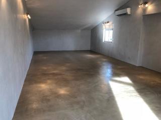beton ciré sol couleur tabac